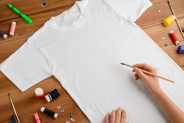 Painting on a t-shirt