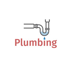 Clog in pipe. Blocked pipe. mud in a blocked drain, unclog, water leak. Vector illustration.