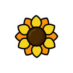 cartoon sunflower vector