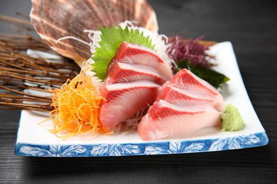 greater amberjack sashimi