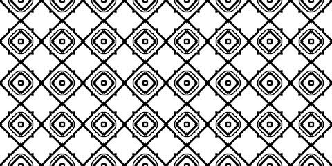 Decorative Traditional Geometric Ornament. Seamless Pattern. Vector Illustration. Tribal Ethnic Arabic, Indian, Motif. For Interior Design, Wallpaper. Black white color