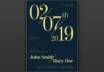 Wedding Invitation Layout