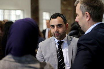 Omar Shakir, Israel and Palestine Director at Human Rights Watch, is seen at his hearing at the district court in Jerusalem