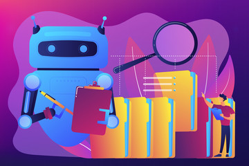 Robotic process automation concept vector illustration.
