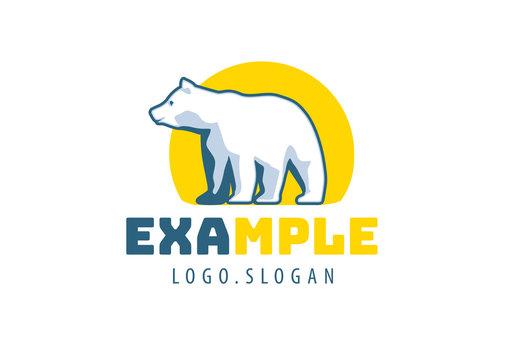 Polar Bear and Sun Logo Layout