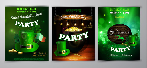 Vector St. Patrick s Day poster design template