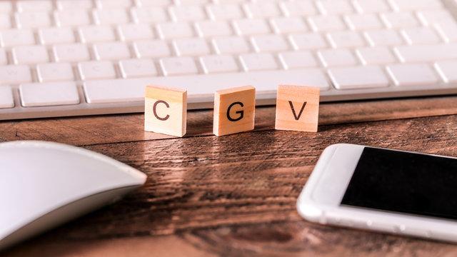 Lettres sur pieces en bois : CGV