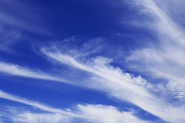 Beautiful blue sky with white clouds. Nature abstract background.