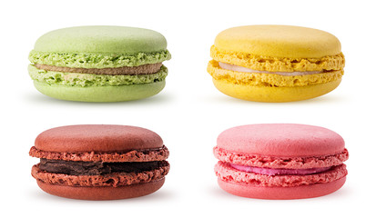 Set sweet colorful macarons
