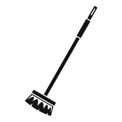 Cleaning mop icon. Simple illustration of cleaning mop vector icon for web design isolated on white background