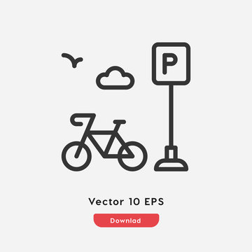 bike parking icon vector