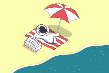 astronaut on vacation