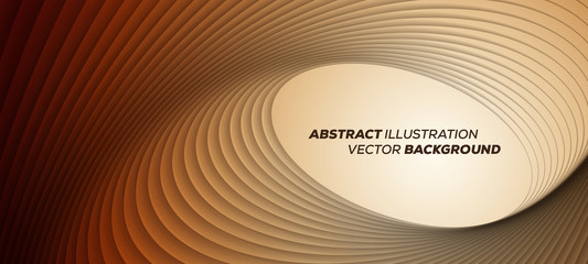 Minimal trendy geometric background. Round lines vector background - 3D design
