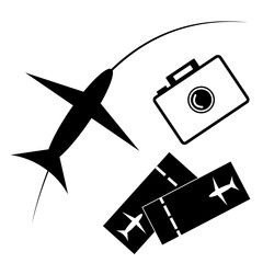 Travel - sign and symbols for traveling concept.