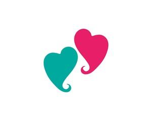 Love heart symbol logo templates