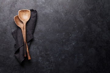 Cooking utensils over kitchen table