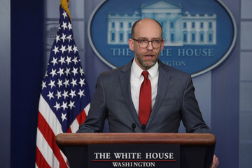 White House Press Secretary Sanders and OMB Acting Director Vought hold press briefing at the White House in Washington