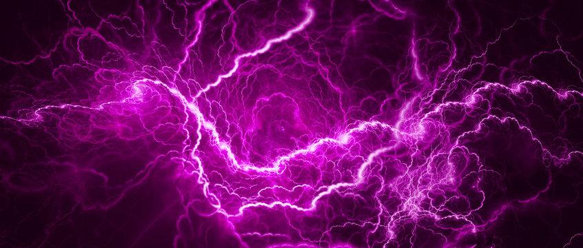 Purple glowing lightning