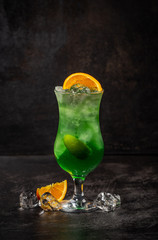 Green apple fruit alcohol cocktail