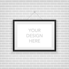 Realistic picture frame. Perfect for your presentations. Vector illustration.