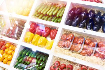 Vegetables in store