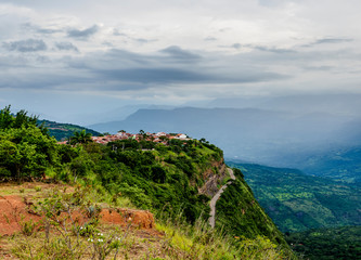 Landscape with Barichara town, Santander Department, Colombia