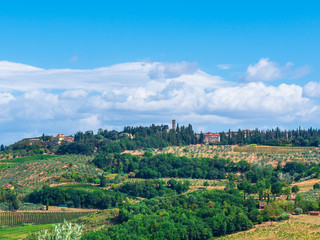 Tuscany landscape and clouds