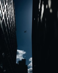low-angle photography of airplane on air
