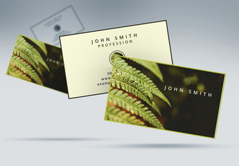 Business Card Layout with Fern Theme