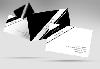 Black and White Business Card Layout