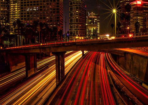 time lapse photography of concrete bridge