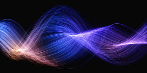 Background Abstract Colored Wavy