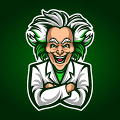 Scientist mascot vector