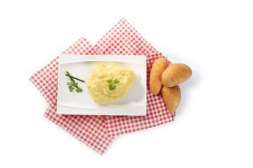 mashed potatoes isolated
