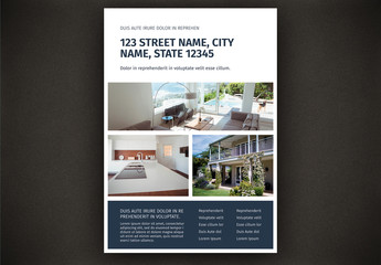 Flyer Layout with Multiple Photo Placeholder