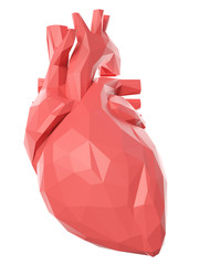 3d rendered medically accurate illustration of a poly style heart