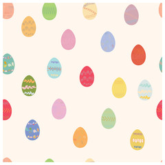 Easter egg seamless pattern.