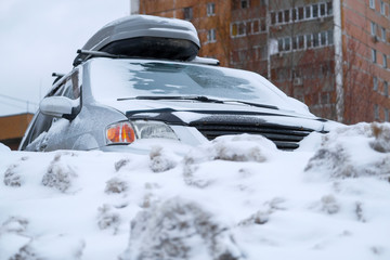 image of cars on a car parking in Moscow
