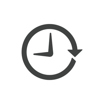 Time Management Icon with Deadline, Hurry, & Punctual Symbolism