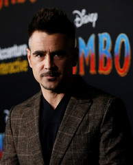 "Cast member Colin Farrell poses at the premiere for the movie ""Dumbo"" in Los Angeles"