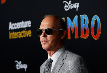 """Cast member Michael Keaton poses at the premiere for the movie """"Dumbo"""" in Los Angeles"""