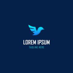 Bird Fly Media Tech Logo Design