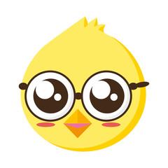 cute chick head