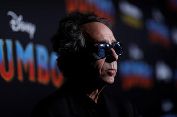 "Director Tim Burton looks on at the premiere for the movie ""Dumbo"" in Los Angeles"