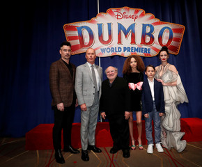 "Cast members pose at the premiere for the movie ""Dumbo"" in Los Angeles"