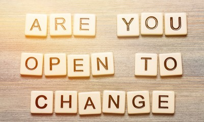 Are you open to change quote with scrabble letters