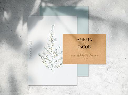 Invitation card mockup illustration