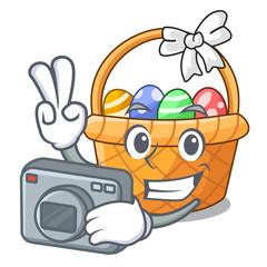 Photographer easter basket miniature the shape mascot