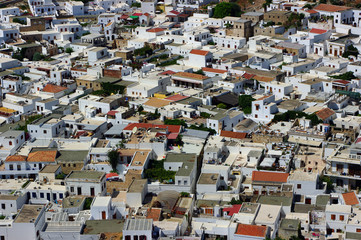 The Lindos, ancient town in Hellenic Republic, Rhodes Island.