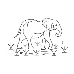 elephant outline logo